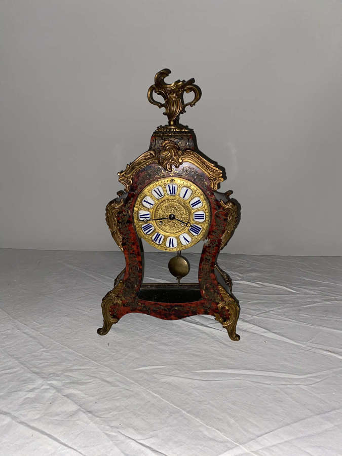 French 19th Century Boulle Louis Xv style Bracket Clock