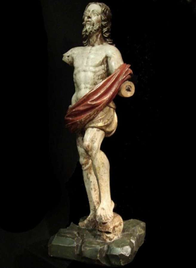 A Spanish polychrome figure of the resurrection