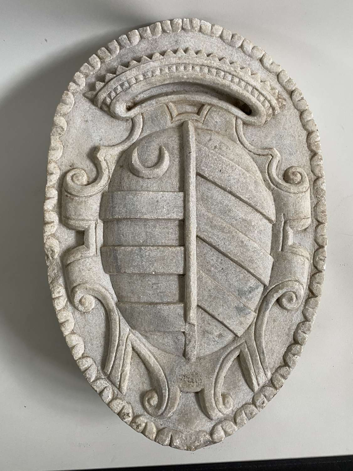 Sculpted coat of arms