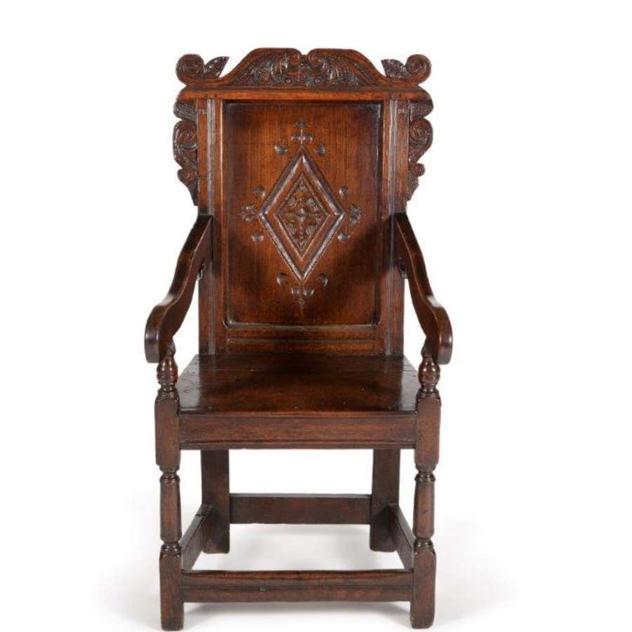 Charles the second oak armchair