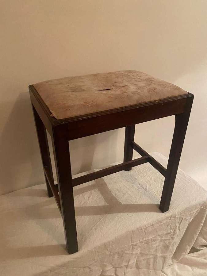 George III mahogany stool