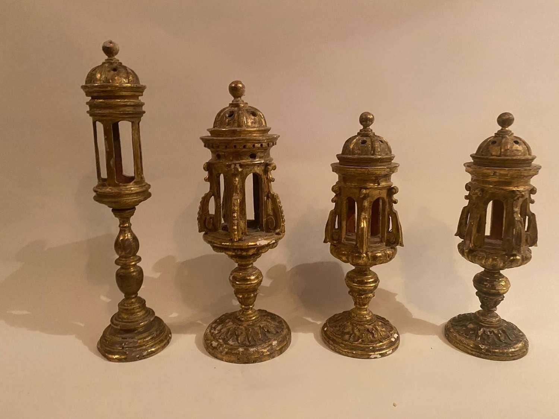 A Set of 4 17th century Italian Relicrease