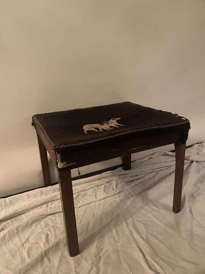 Mahogany chamfered leg stool