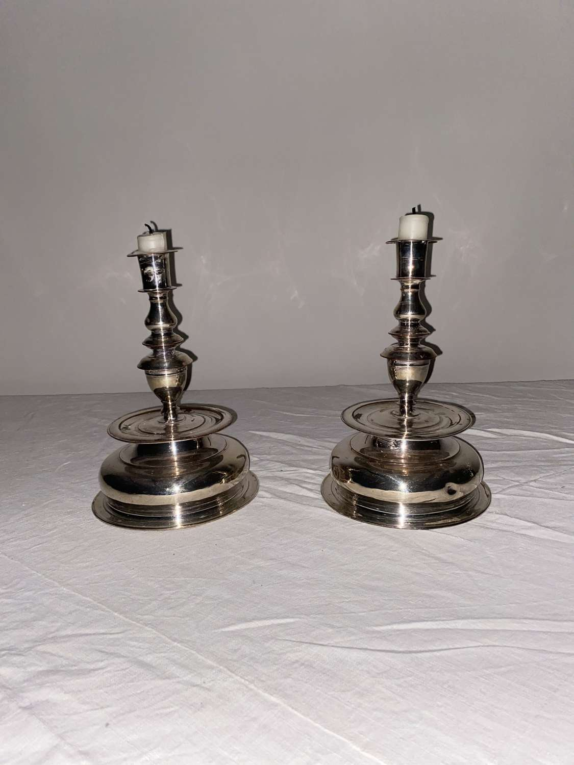 A pair of Silver candlestick holders