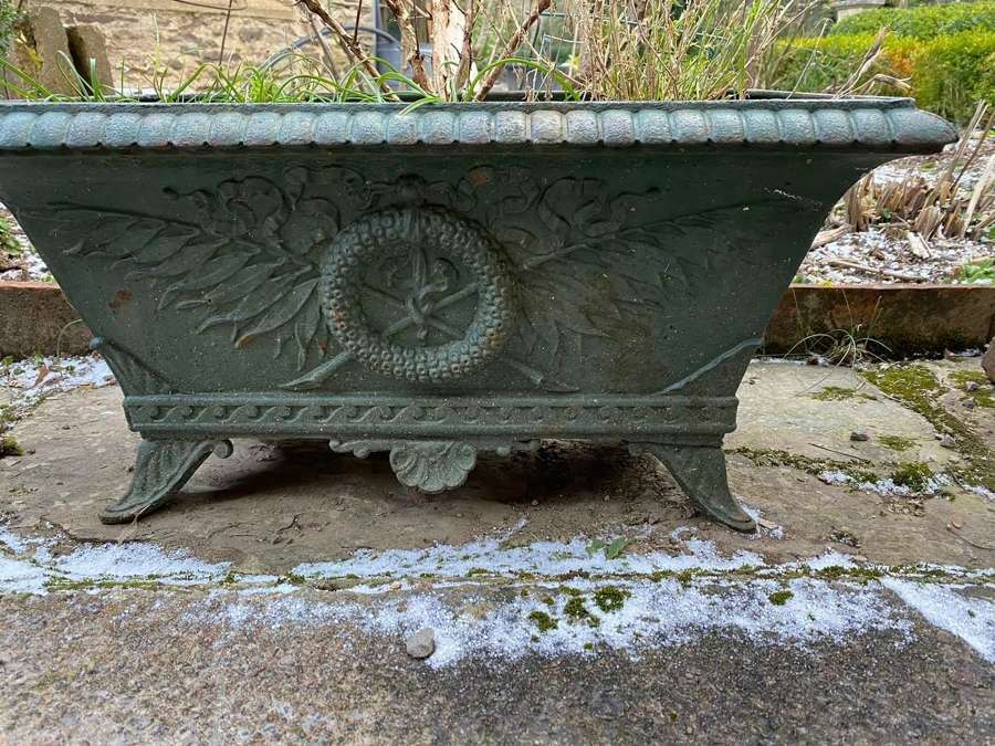 Napoleon the third cast iron planter in the Regency style