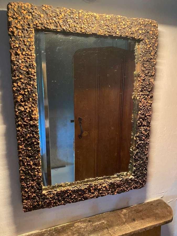 A Regency cork mirror
