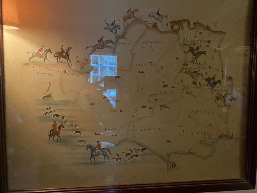 A hand drawn charming map of the West of England