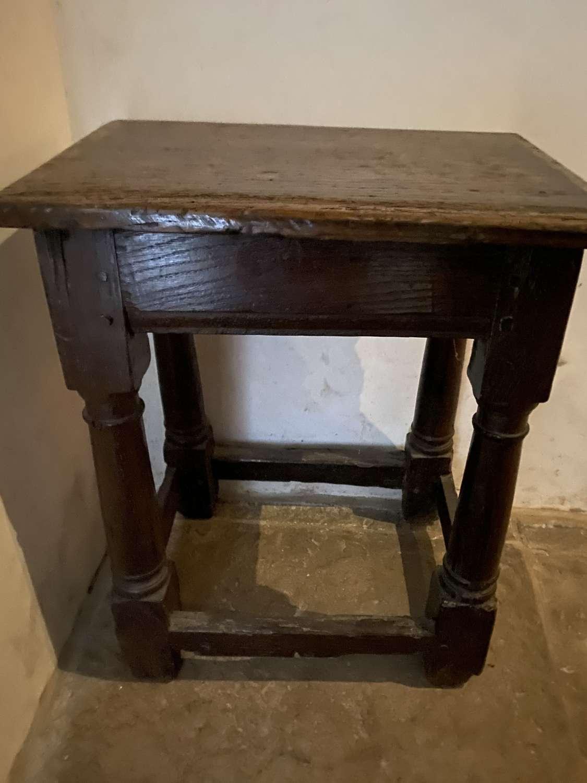 Oak joint stool