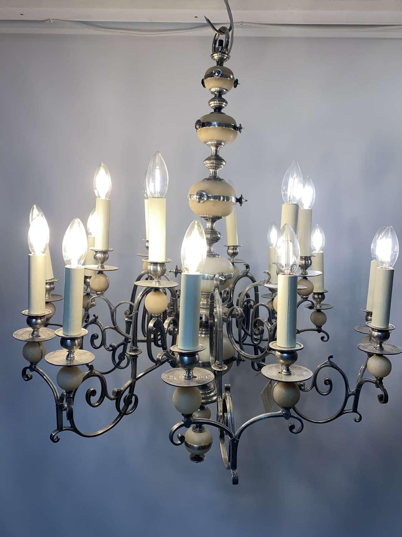 Alabaster chandelier